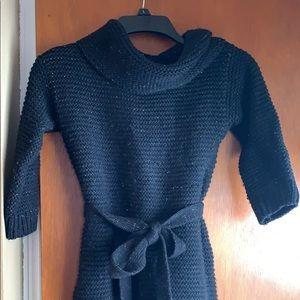 Black sparkly sweater dress